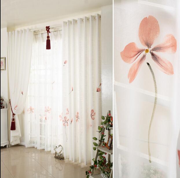 Vino sala cortinas para for Cortinas blancas para sala