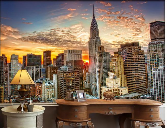 Wallpaper ciudad de nueva york de gran altura mural for Papel pintado ciudades