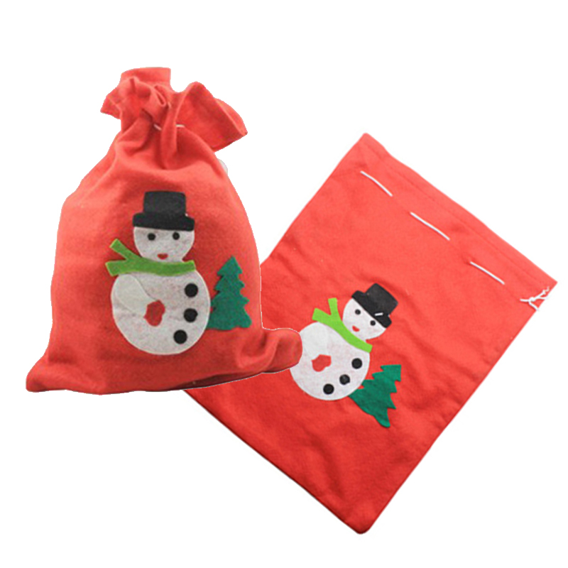 4pcs/lot Christmas Gifts Candy Bags Santa Sacks Decorations New Year Gift stocking home Decoration Christmas bag Ornaments