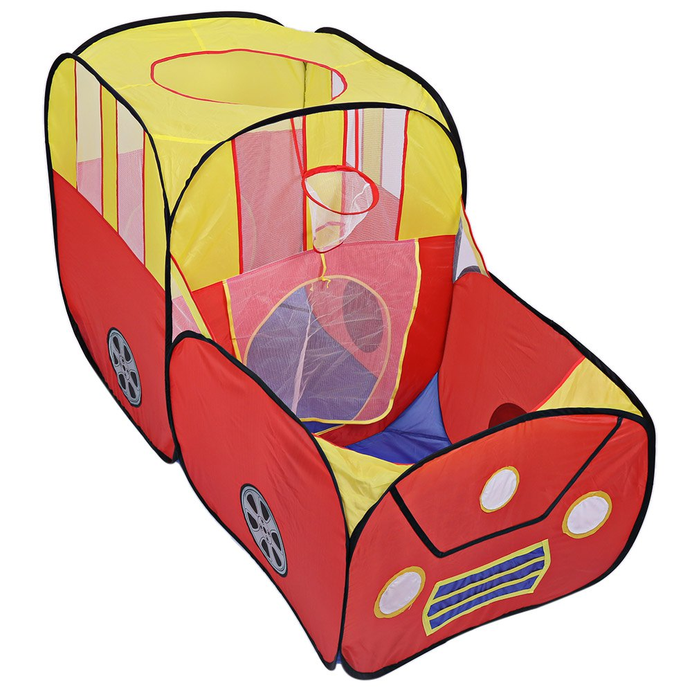 Safety Car Shape foldable tent for kids Plastic Toy Tents safety ball pit pool game Huge Tent for Children Indoor Play Yard(China (Mainland))
