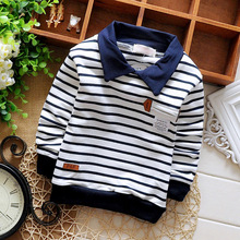 Spring Autumn Casual Baby Babi Children Clothing Boys Striped Cotton Long Sleeve  T-shirt Tops S1034(China (Mainland))
