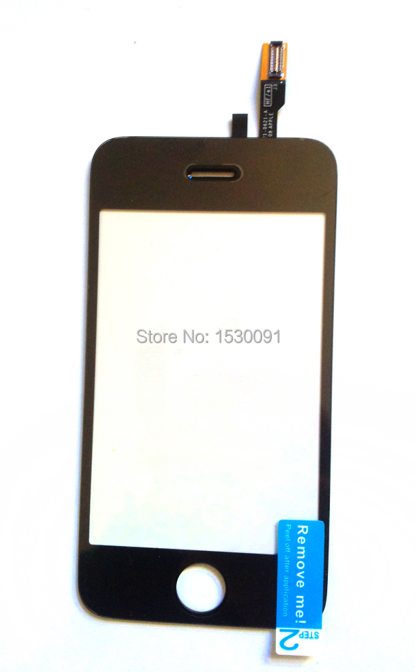 New Front Cap glass Replacement For iphone 3G touch digitizer screen front panel 3.5'' Mobile phone touch + stickers 3M(China (Mainland))