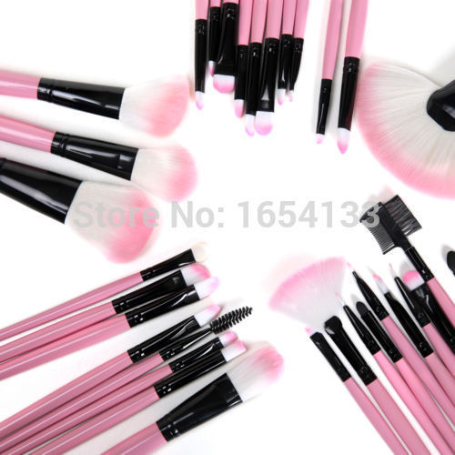 High Quality! Lowest Price! 32pcs Cosmetic Facial Make Up Brush Kit Makeup Brushes Tools Set For ...