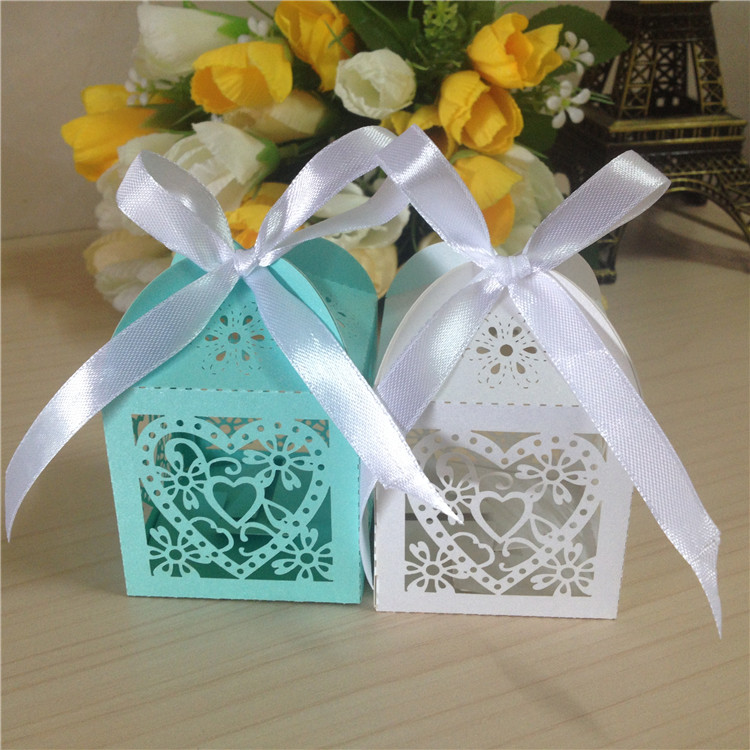 Wedding Laser Cut Candy Chocolate Valentine Packaging Boxes(China (Mainland))