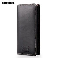 Buy Tobebest Leather Pouch iPhone 7 Luxury Black Mobile Phone Bag Cover Apple iPhone 7 plus FASHION Logo for $6.96 in AliExpress store