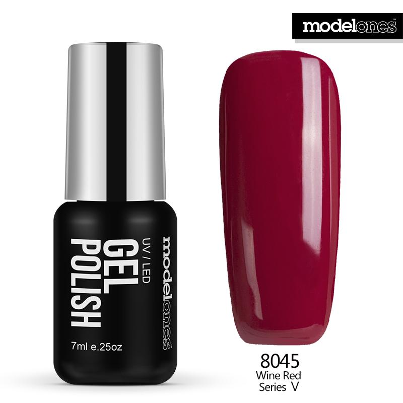 Modelones 7ML Hot Sale Color Nail Gel Polish UV Lamp Nail Gel Lacquer French Red Nail Polish Soak Off Gel For Christmas Gift(China (Mainland))