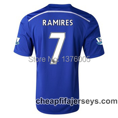 Top 2015 RAMIRES #7 Chelsea Soccer Jersey Can Custom Cheap Free Shipping,football shirts Thailand Quality Save 70% Off Camisa(China (Mainland))