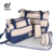 7 Colors 5PCS/Set  High Quality Tote Baby Shoulder Diaper Bags Durable Nappy Bag  Mummy Mother Baby Bag