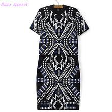 2 pieces Geometric jacquard Special yarn short Sleeve Sweater Dress 2015 Women Knit Sweater Skirts 1 Sets(China (Mainland))
