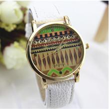 Envío gratis 9 colores nueva llegada de moda de cuero correa de anclaje de ginebra relojes mujer relojes de vestir