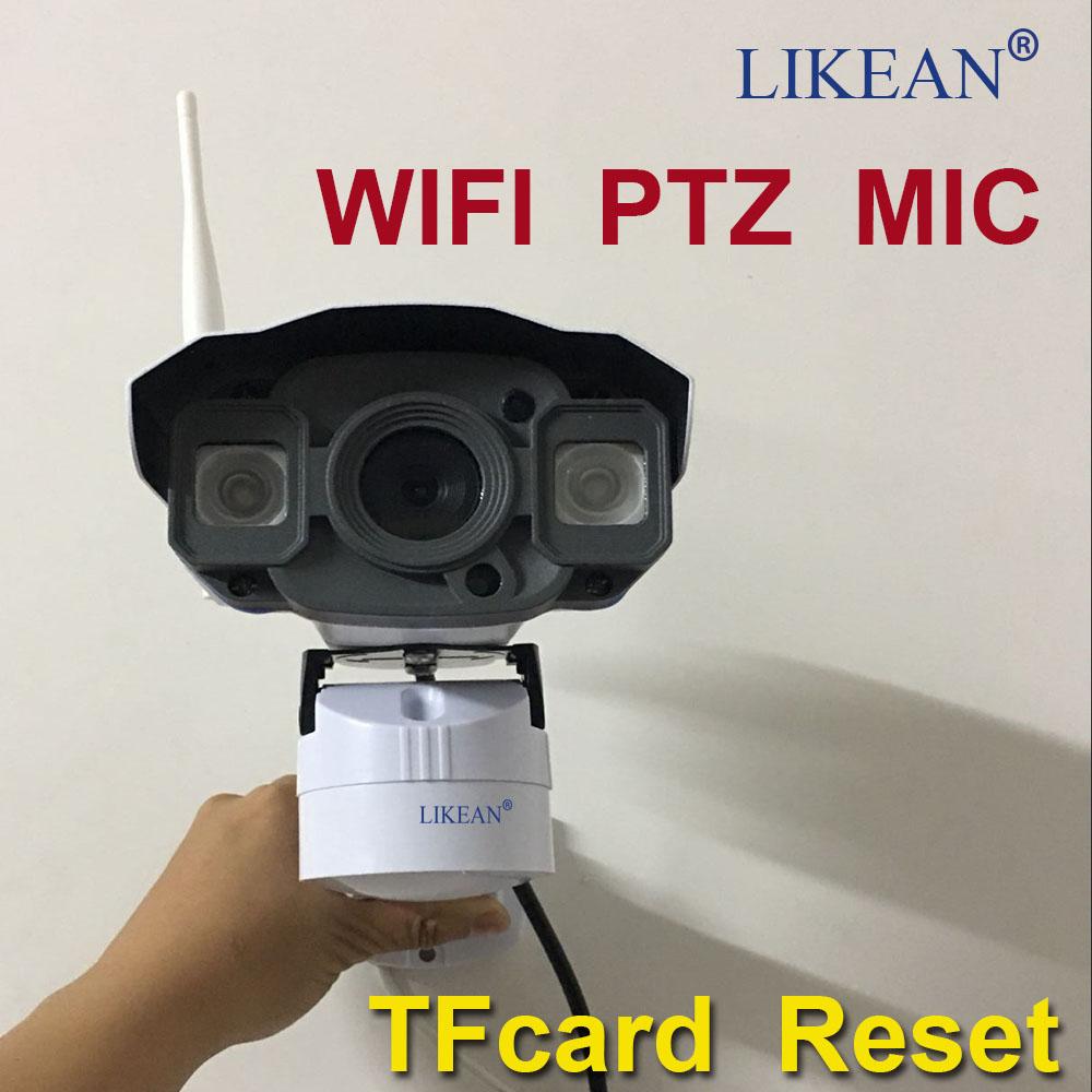 LIKEAN Full HD 1080P Wireless PTZ IP Camera Wifi CMOS Night Vision H264 PTZ IR Security Camera 32G card MIC Security Onvf 2.0MP(China (Mainland))