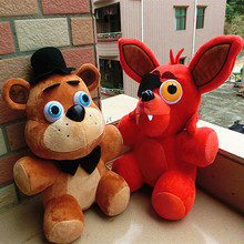 "In Stock Official Five Nights At Freddy's 4 FNAF Foxy Freddy Fazbear Bear Plush Toys Doll 10"" kids toy Christmas Gift(China (Mainland))"