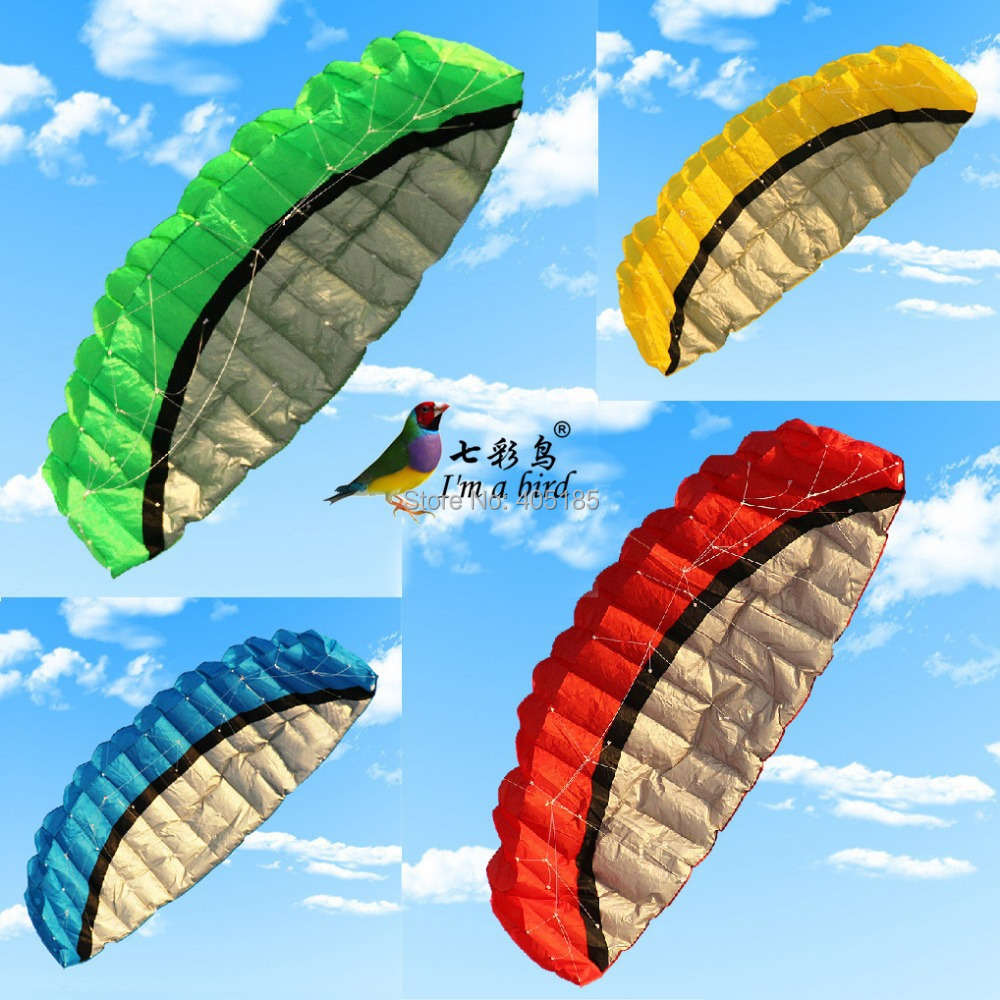 Free Shiipping Outdoor Sport Hot Sale 2.5 m Dual Line Stunt Parafoil Nylon Power Kite + Flying Tool(China (Mainland))
