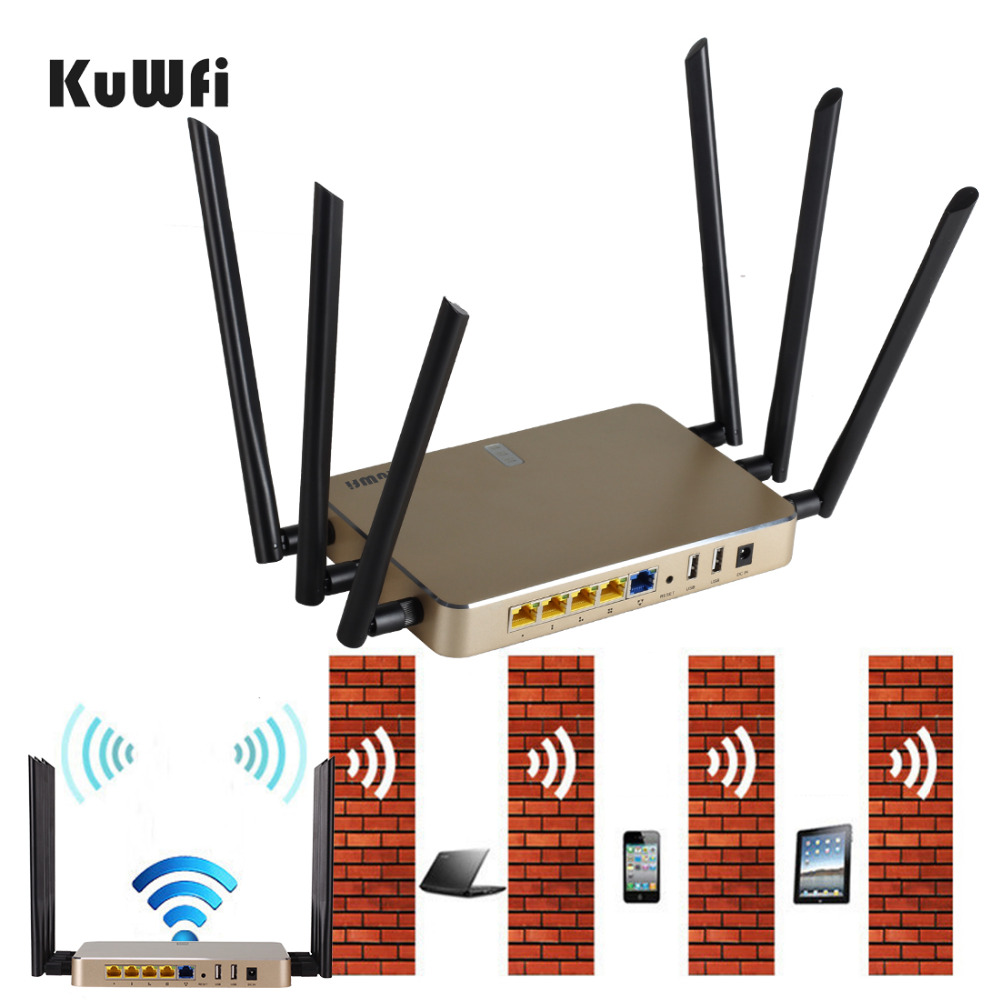 1200Mbps High Power 16M+128M Wireless Router 802.11 AC 2.4G&5G Dual Band High power WiFi Router Support 128 users can crosswall(China (Mainland))