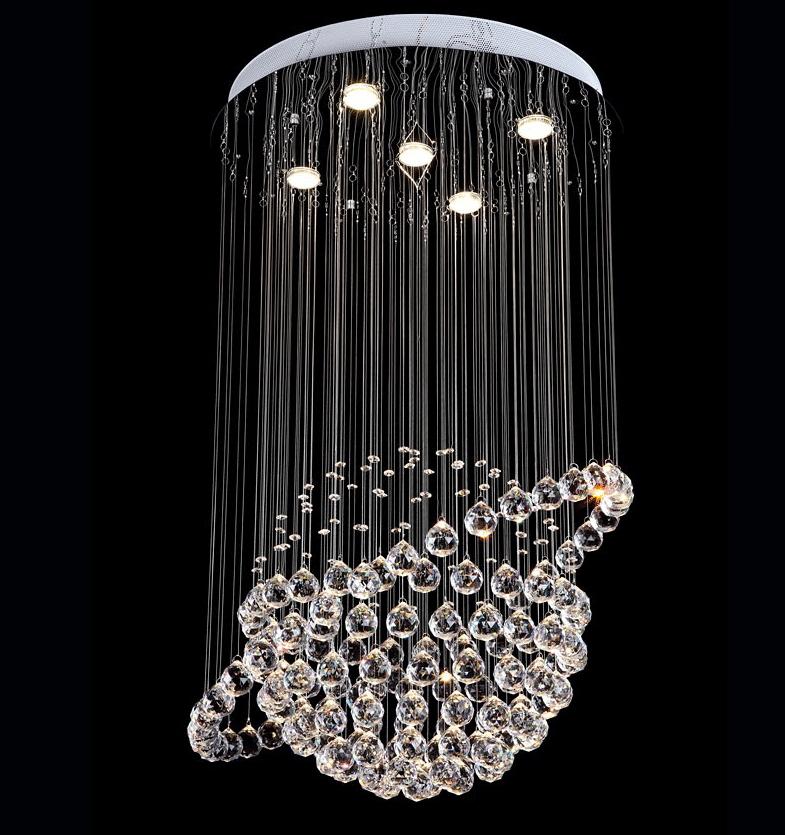 Modern LED Crystal Ceiling Lights Cristal Lustres Fitting Flush Mount Lighting Fixtures Globe Design lamp For Hotel Restaurant<br><br>Aliexpress