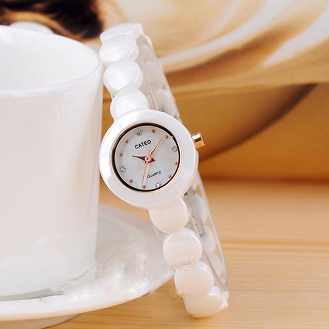 Simple Fashion Elegant Lady Ceramic Watches Quartz Vogue Korea Style Women Dress Clock Brand Name Timepiece Reloj Free Ship NW65<br><br>Aliexpress
