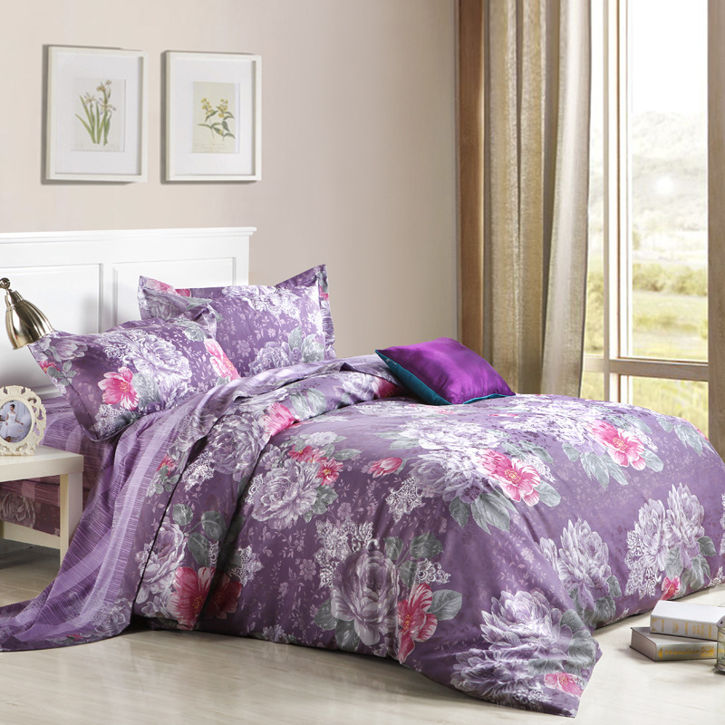 Jacquard Sexy Comforter Sets Embroidery Quilting Reactive Dyeing Minimalist Style Wind Pastel Linen Comforter Bedding Sets(China (Mainland))