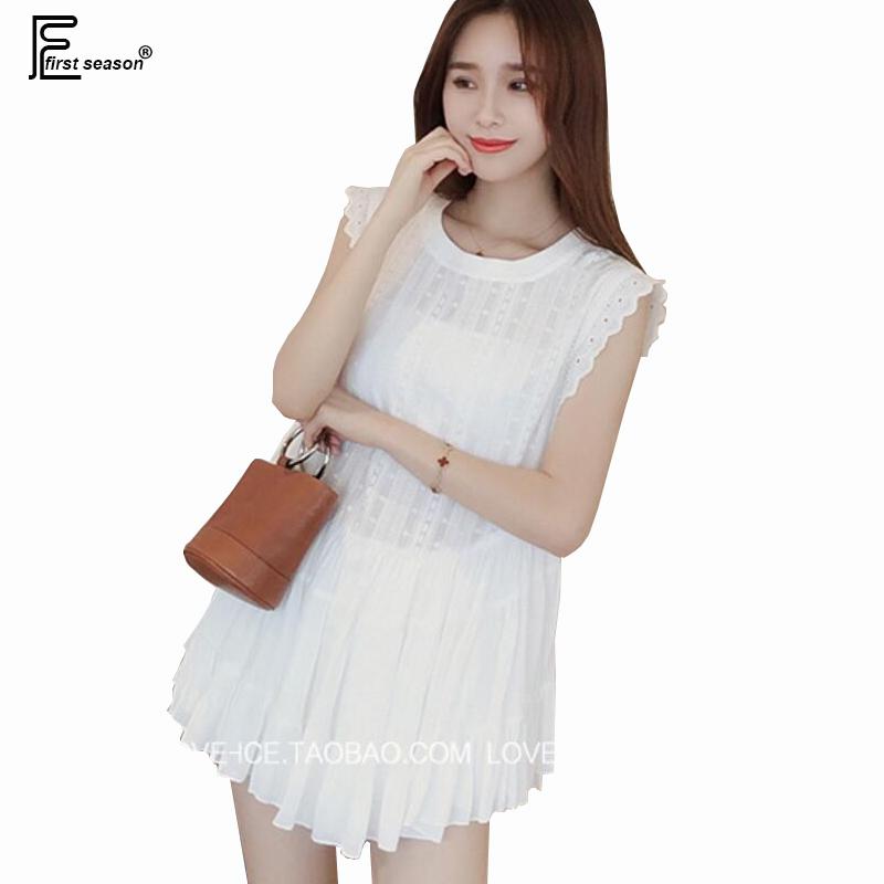 Hot Sale Summer Korean Fashion Style Women Sexy Club Dresses Sleeveless O Neck Ruffles Hollow Out Cotton White Mini Dress 6243(China (Mainland))