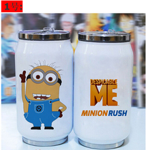 2015 New Despicable me Creative coffee cup lasting insulation vacuum cup Cartoon Stainless Steel Minion Mug Hot Selling
