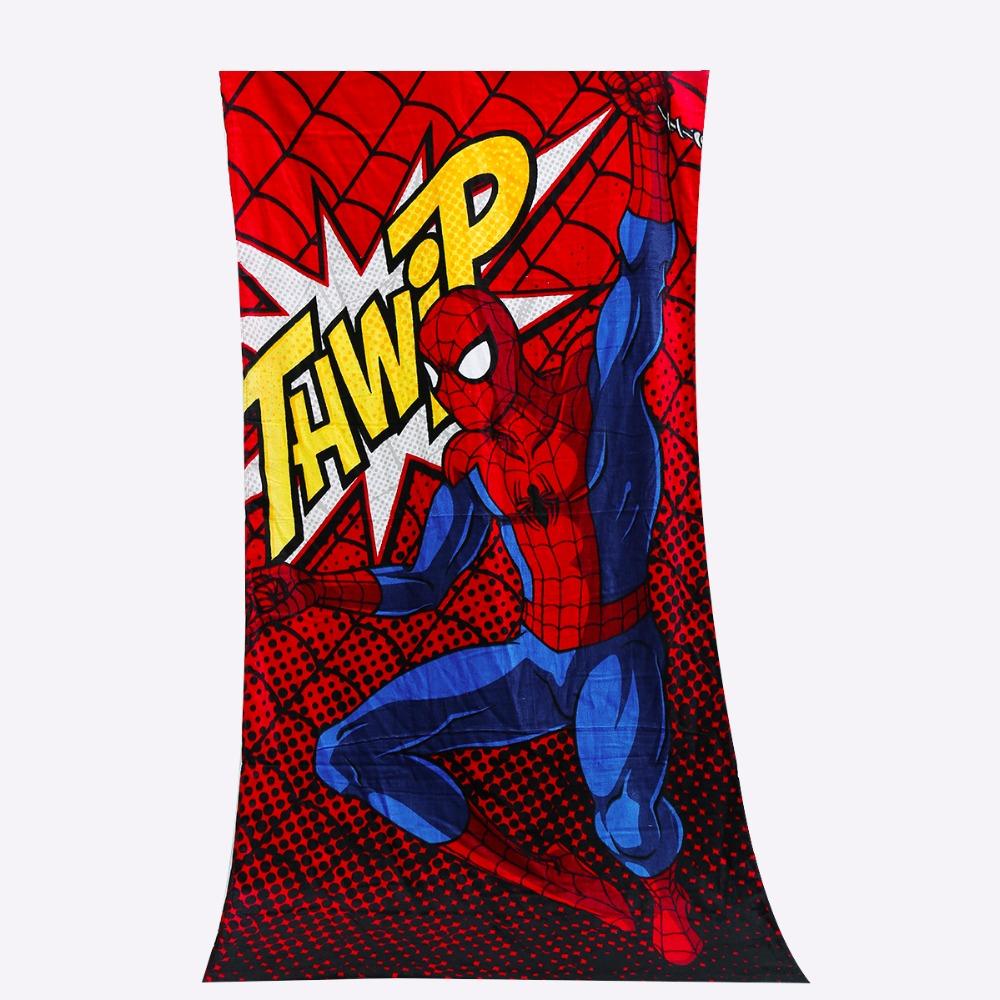 Plus Size Bath Towel Spider Man Cotton Adults Beach Towel Drap De Plage Toalla Playa(China (Mainland))
