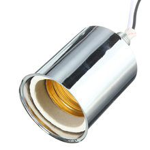 Hot 220V Lamp Base E27 Vintage Retro Antique Edison Ceramic Screw Bulb Hang Socket Lamp Base Holder Light Fitting With Wire(China)