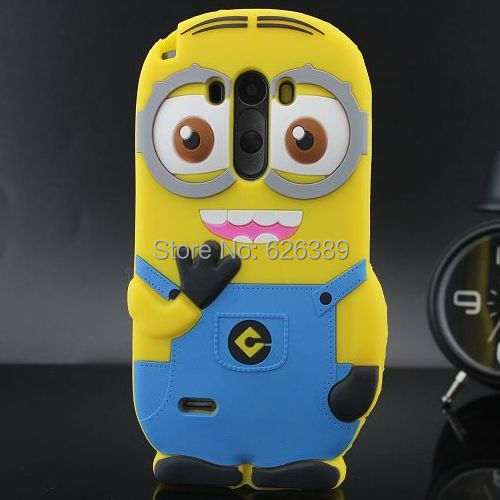 For LG G3 Case Cute 3D Despicable Me 2 Minions Silicone Cell Phone Cases Cover For LG G3 D858 D859(China (Mainland))
