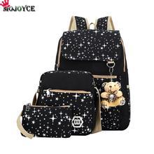 Buy Women Backpack Teenage Girls School Bags Rucksack Back Pack Canvas Cute Stars Printing Backpack Set Children for $20.12 in AliExpress store