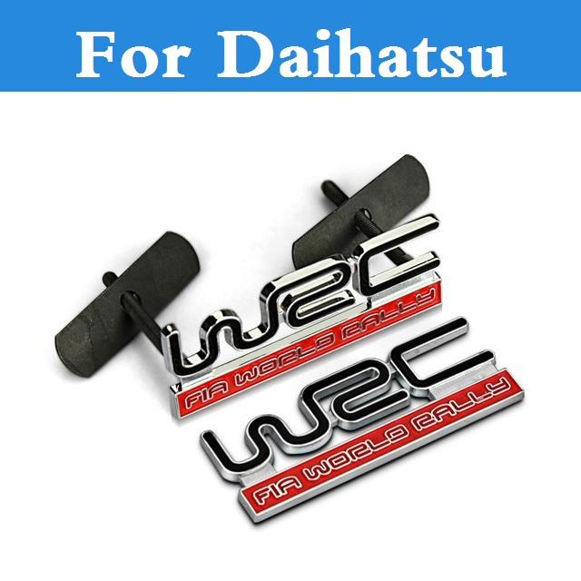 Soild Design Car Styling Self Adhesive Metal WRC Sticker For Daihatsu Altis Be-go Boon Ceria Copen Cuore Esse Materia(China (Mainland))