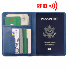 Buy RFID Blocking Passport Cover Travel Wallet Passport Holder Organizer Cover Men Business Passport Card Holder ID PU Leather Purse for $13.98 in AliExpress store