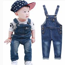 2015 New Brand Denim Overalls for Girls & Boys Children's Jeans Jumpsuits Boys Dungarees Quality Kids Bib Long Pants Trousers