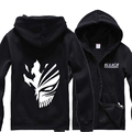 Free shipping Anime BLEACH Costume Zip Hoodie Sweatshirt Hooded carton Coat