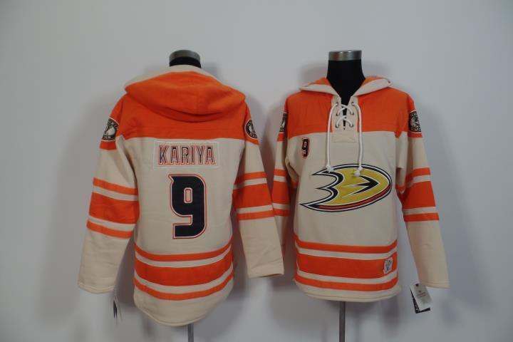 2015 New Anaheim Ducks Mens Sweaters #9 Paul Kariya Ivory Ice Hockey Jersey Hoodies 3197<br><br>Aliexpress