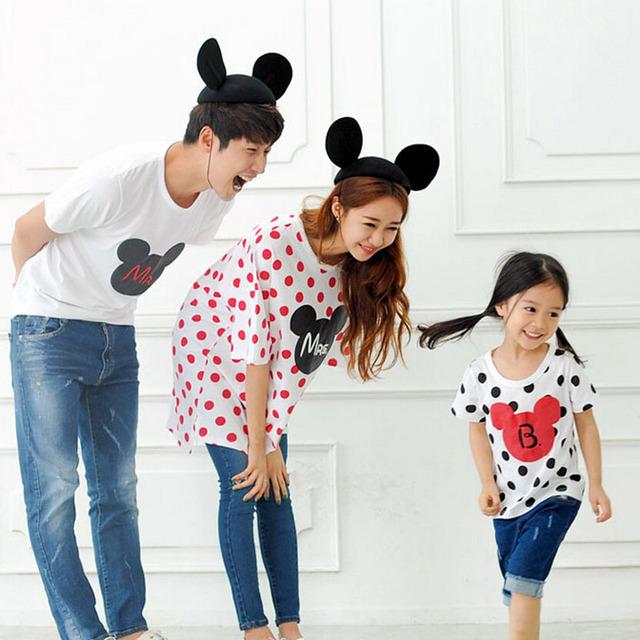 Семьи соответствующие одежда из хлопка летнее с коротким рукавом - рубашка соответствия ...