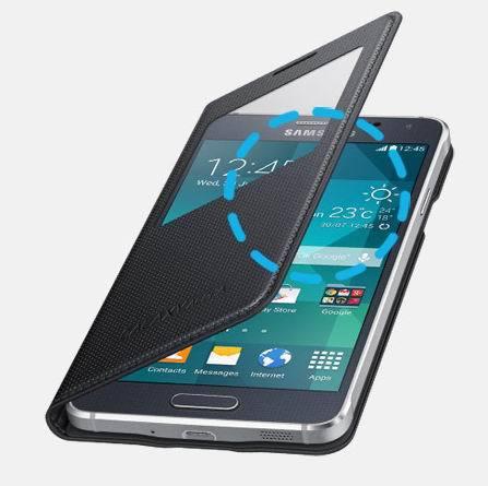 Гаджет  For Samsung Galaxy Alpha SM-G850F G850 Smart Touch Case Flip Leather Wallet View Window Case Back Cover Alfa None Телефоны и Телекоммуникации