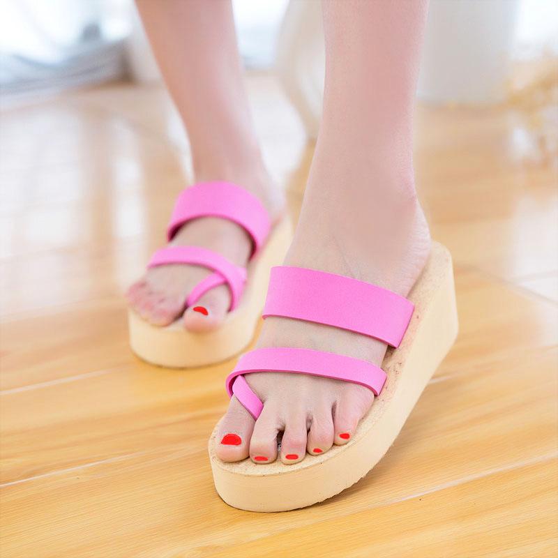 2016 Summer Shoes Women Platform Sandals Wedge Flip Flops Sapato Feminino High Heel slippers Sandalias Mujer Plataforma Chanclas(China (Mainland))