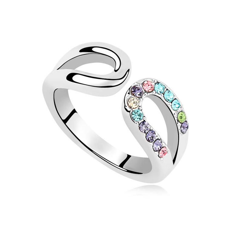 Гаджет  5 Colors Made with SWAROVSKI ELEMENTS Crystal 18K Gold Plated Ring for women New Sale Hot #97482 None Ювелирные изделия и часы