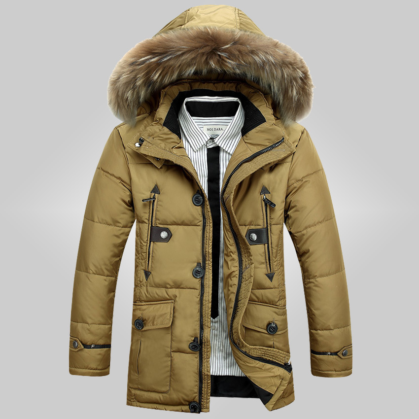 Free shipping 2015 Men's new winter jacket casual fashion men's long down jacket down jacket Men 200cy(China (Mainland))