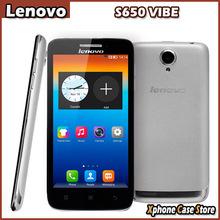 Original Lenovo S650 VIBE 8GBROM 1GBRAM 3G WCDMA Smartphone 4.7 inch Android 4.2 MTK6582 Quad Core Support Dual SIM / Camera