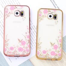 Flora Diamond Case Samsung Galaxy A3 2016 Chic Flower Bling Soft TPU Clear Cover A5 A7 J3 J5 J7 Prime - S&J SHOP store