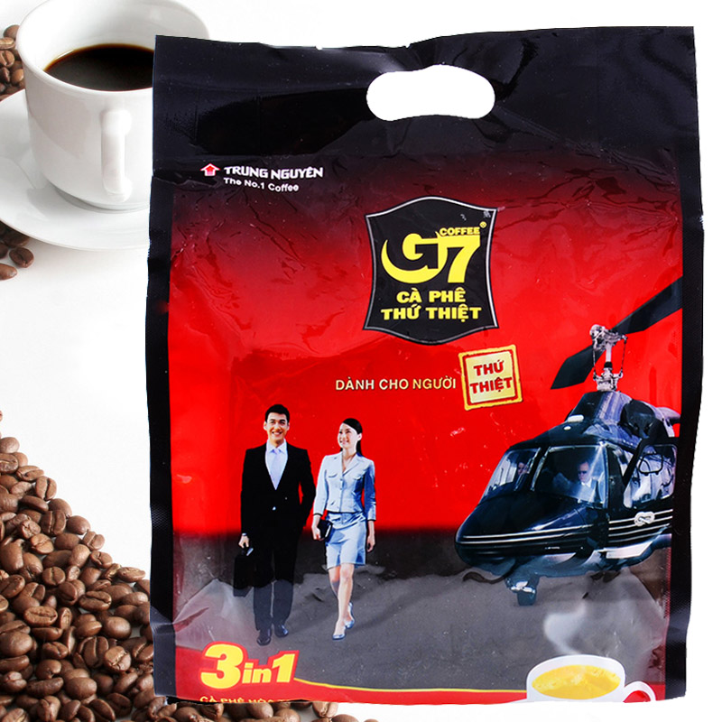 g7 Instant sweet coffee 3 in 1 800g Vietname Coffee TRUNG NGUYEN G7 Coffee with Chinese