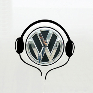 Tail Car styling earphone Stickers modification Car Sticker and Decals for VM/Das Auto/Polo/Golf(China (Mainland))