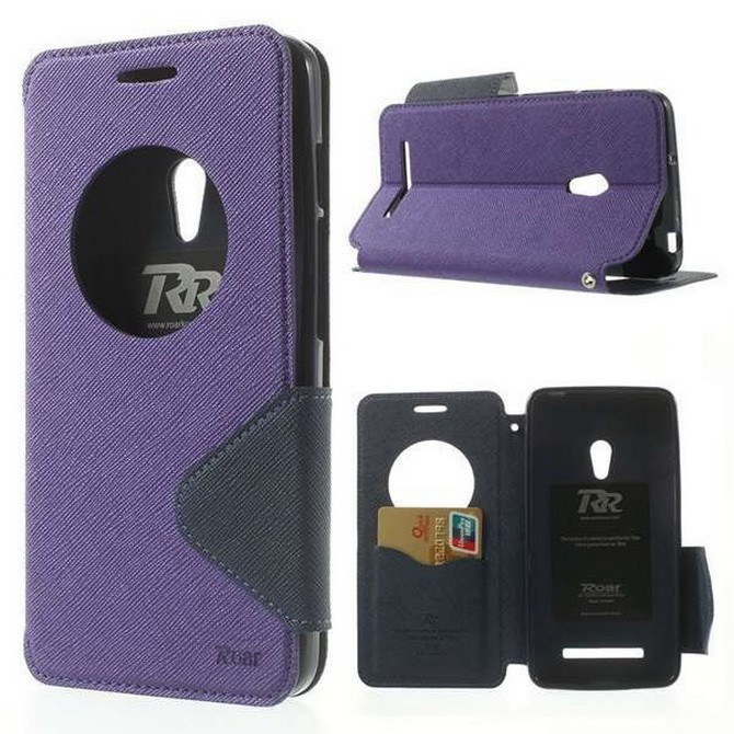 For Asus Zenfone 5 6 case Korea Diary circle window Leather case for Zenfone5 Zenfone6 card stand mobile phone bag Screen Film(China (Mainland))