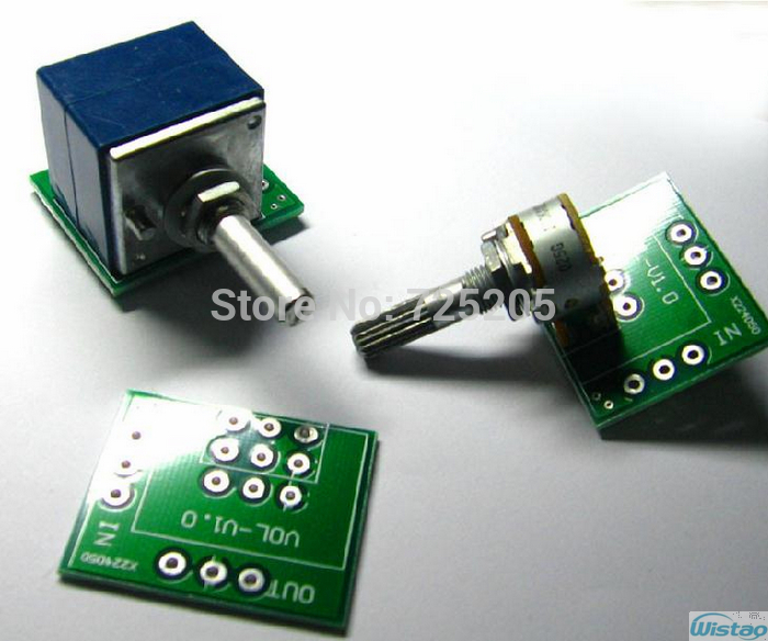 Double shielded Potentiometer PCB for ALPS 27 and 16 Type 100K 50K 10K HIFI DIY Free Shipping(China (Mainland))