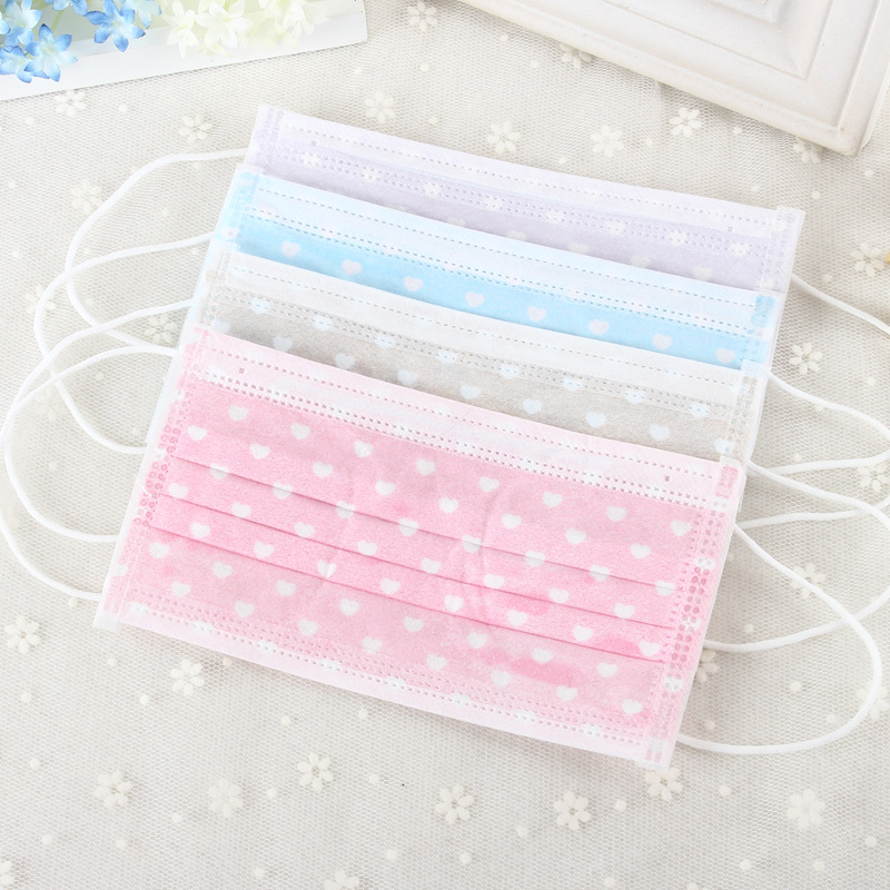 50pcs/lot 3 Layers Non Woven Disposable Face Mask Candy Salon Dust Proff Ear Loop Medical Mouth Full Random Colors(China (Mainland))