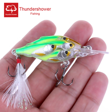 Buy 5 pcs Group fishes Crankbait fishing lure Crank lures Feather Hooks Bass plastic hard bait 6.5cm/6g Artificial bait, CB033 for $13.95 in AliExpress store