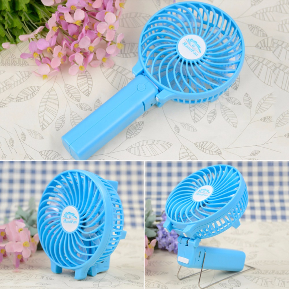 New Mini Fan Multifunctional 3 Gear Speed USB Handheld Battery Rechargeable Fan For PC Computer Notebook(China (Mainland))