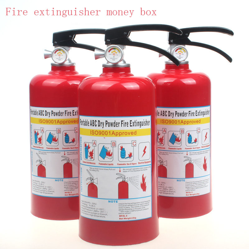 Fire Extinguisher Money Box Kid Child Present Gift Cute Coins Penny Cents Large Money Boxes Piggy Bank Saving(China (Mainland))