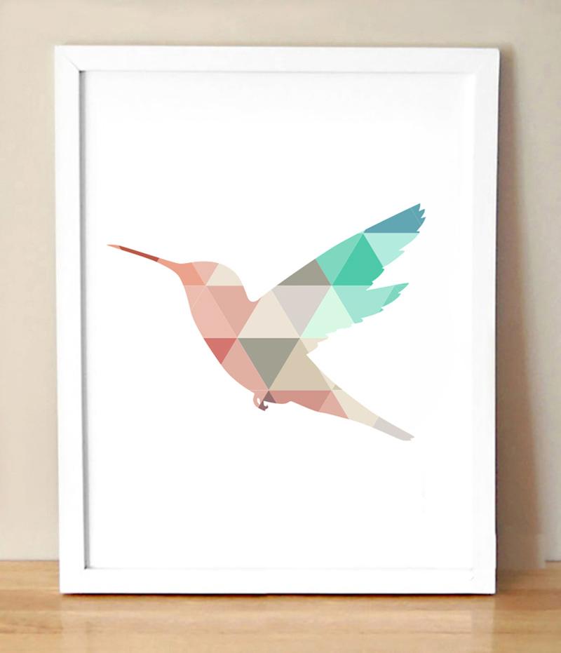 Colibri peinture promotion achetez des colibri peinture promotionnels sur - Peinture murale geometrique ...