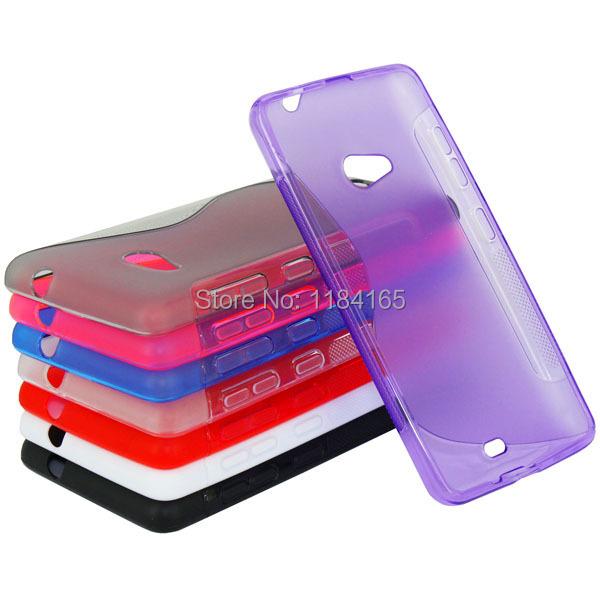 Ordinary Antiskid S Pattern Soft Gel Skin Pudding TPU Case for Microsoft Lumia 535/Nokia Lumia 1090 Phone Back Cover(China (Mainland))