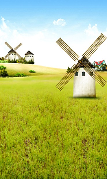New arrival Background fundo Rotating windmill grass 600CM*300CM width backgrounds LK 2242<br><br>Aliexpress